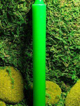 Bougie verte – Teintée dans la masse