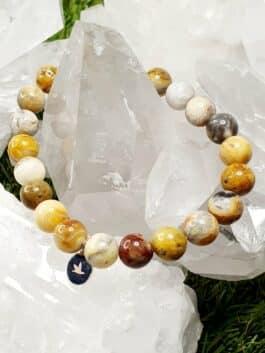 Bracelet Agate Crazy Lace Perles rondes 8 mm
