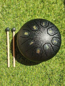 Tongue Drum Noir Diamètre 15 cm