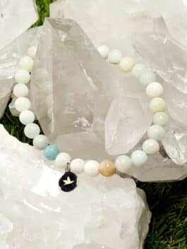 Bracelet Amazonite Perles rondes 6 mm